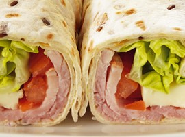 Wrap jambon fromage